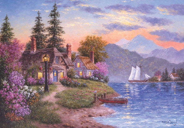 Serenity Cottage / Cabin Jigsaw Puzzle