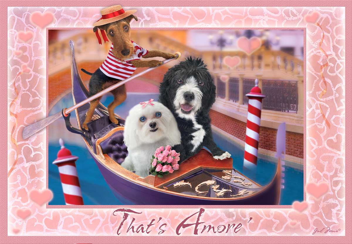That's Amore Dogs Jigsaw Puzzle