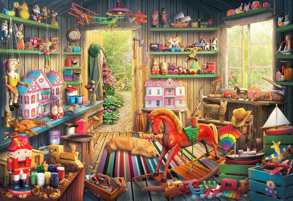 Toy Makers Shed Nostalgic / Retro Jigsaw Puzzle