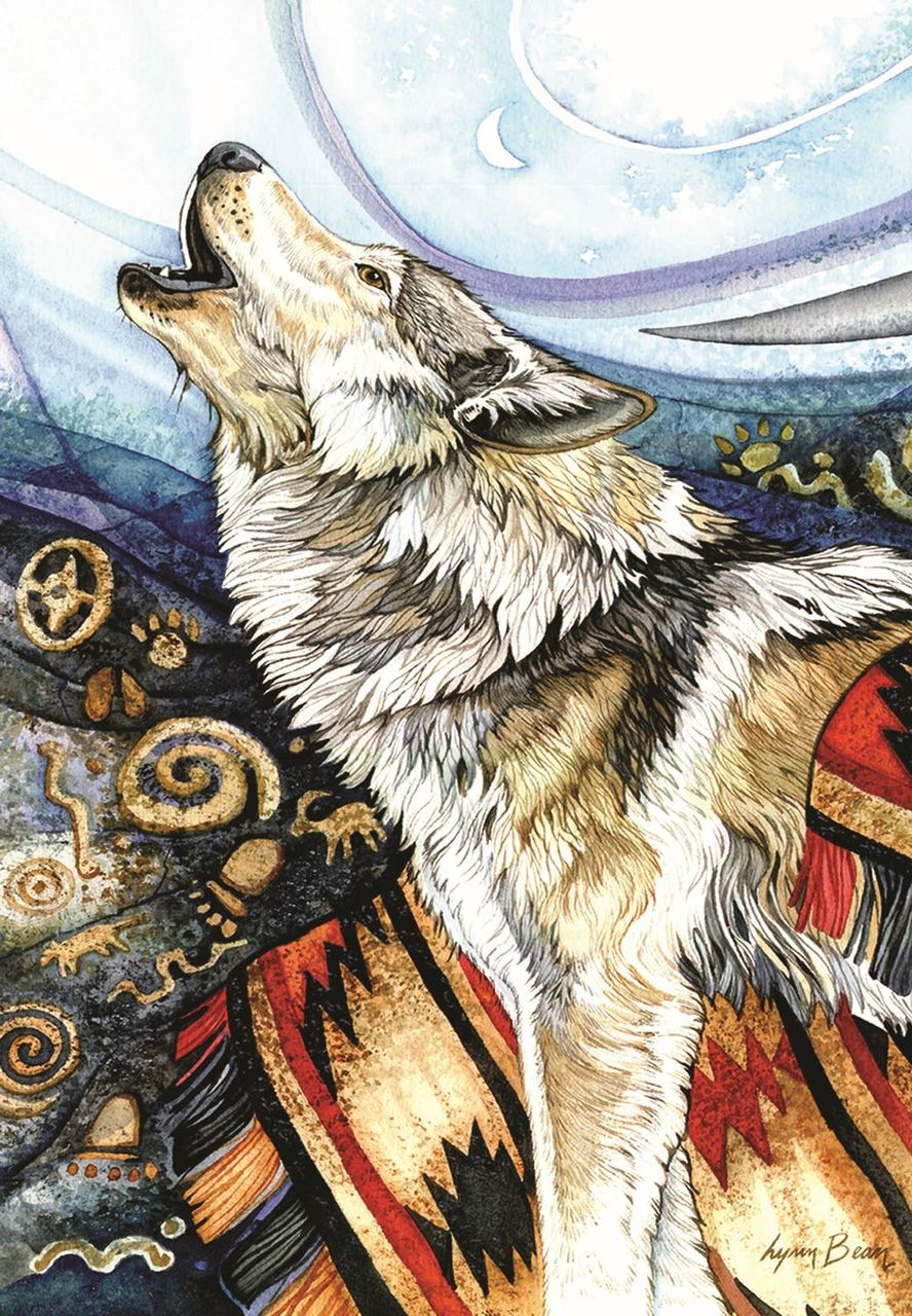 Howling Wolf Wolves Jigsaw Puzzle