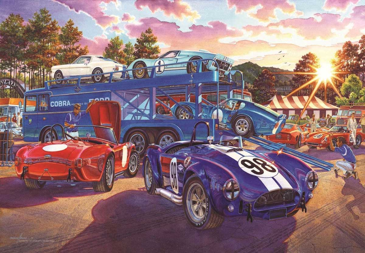 The Competition Has Arrived Cars Jigsaw Puzzle
