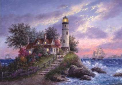 Captain's Cove Lighthouses Jigsaw Puzzle