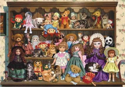 Grandma's Dresser Nostalgic / Retro Jigsaw Puzzle