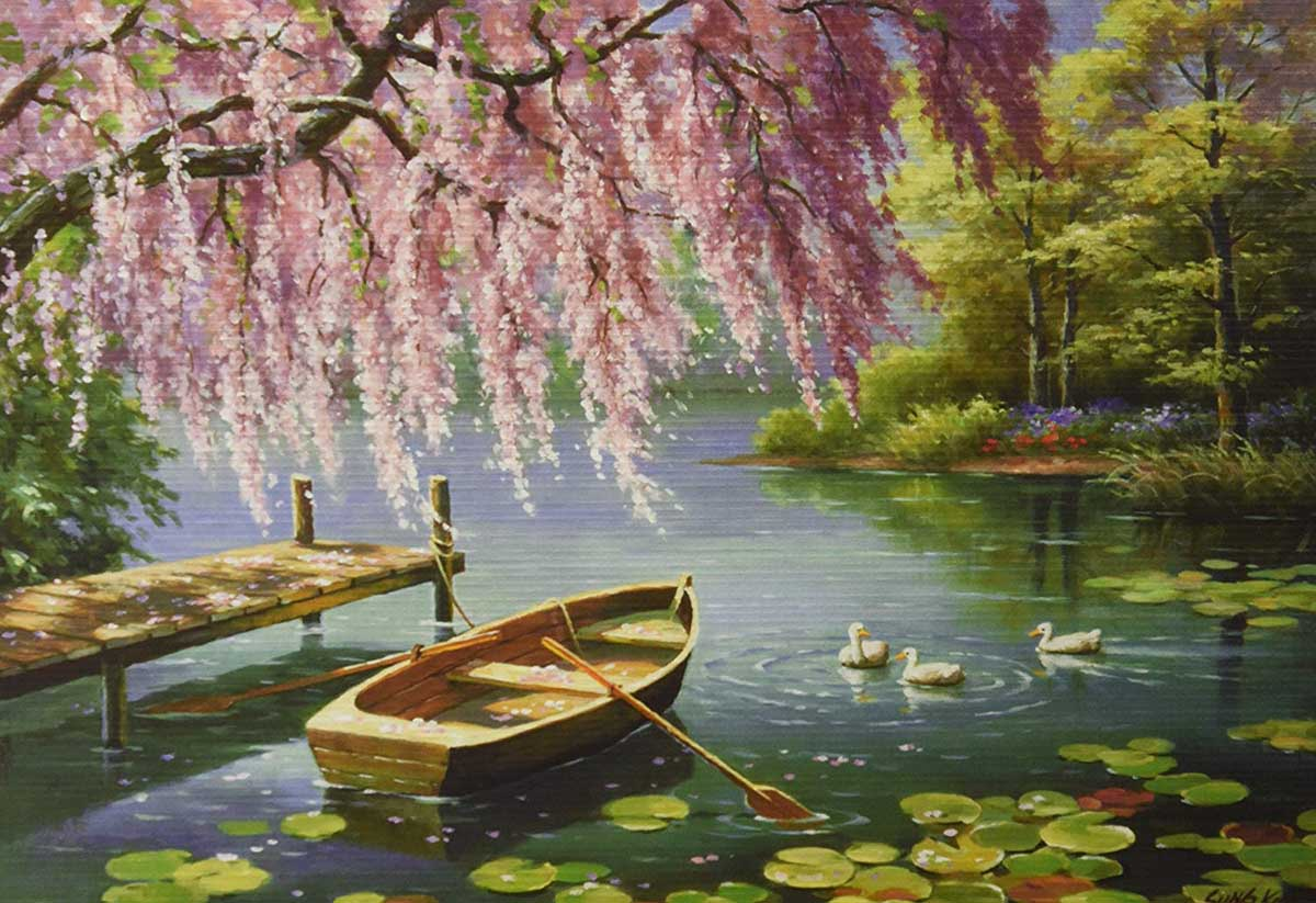 Willow Spring Beauty Spring Jigsaw Puzzle