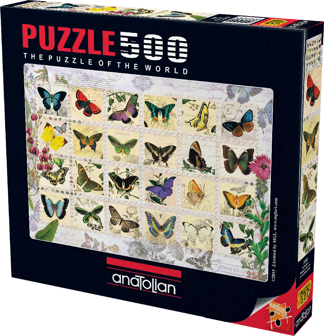 Butterfly Stamps Butterflies and Insects Jigsaw Puzzle