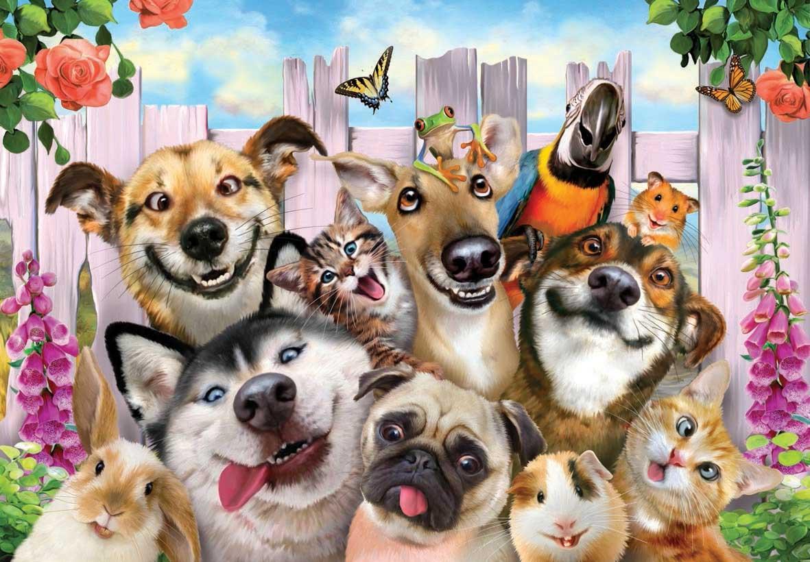 Pet Selfie Animals Jigsaw Puzzle