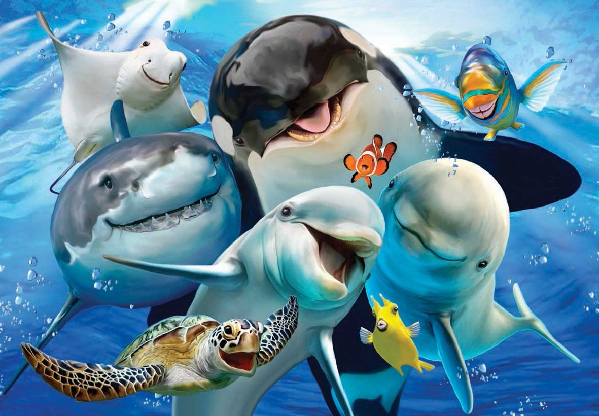Ocean Selfie Under The Sea Jigsaw Puzzle