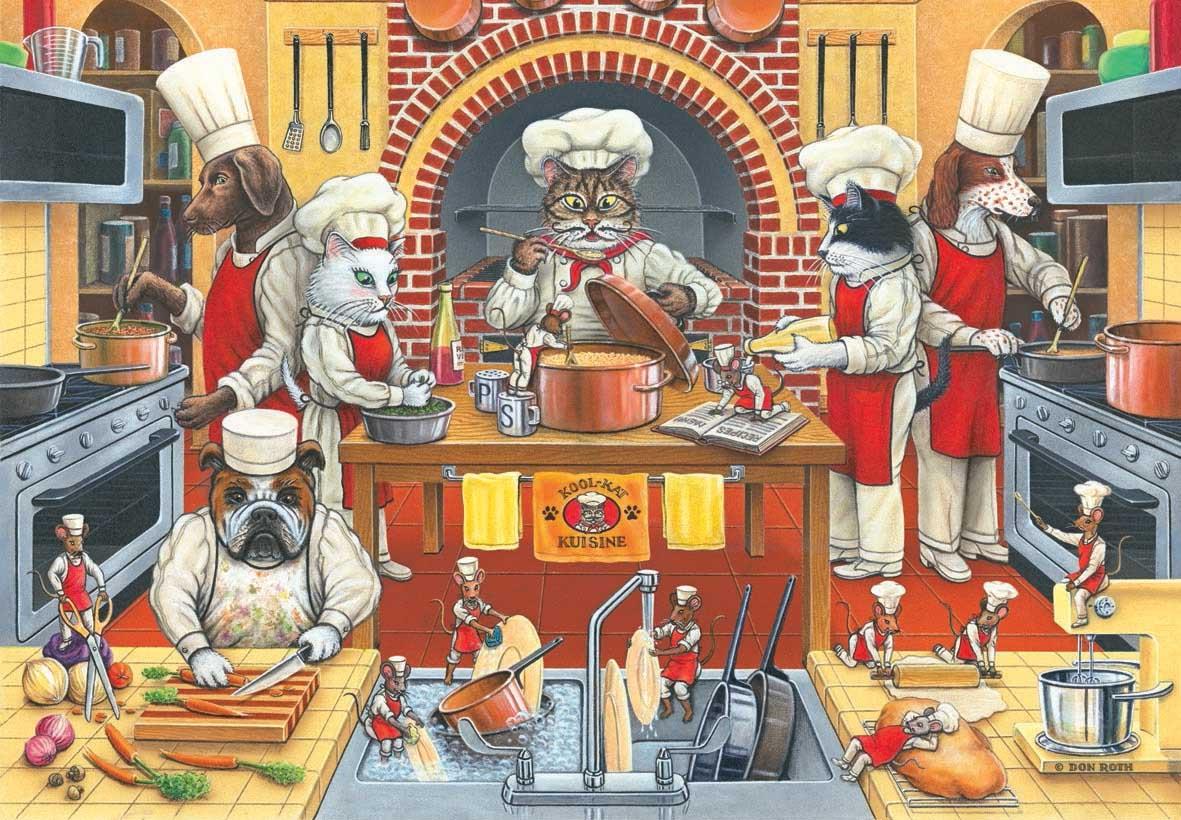 Kool Kat Kuisine Cats Jigsaw Puzzle