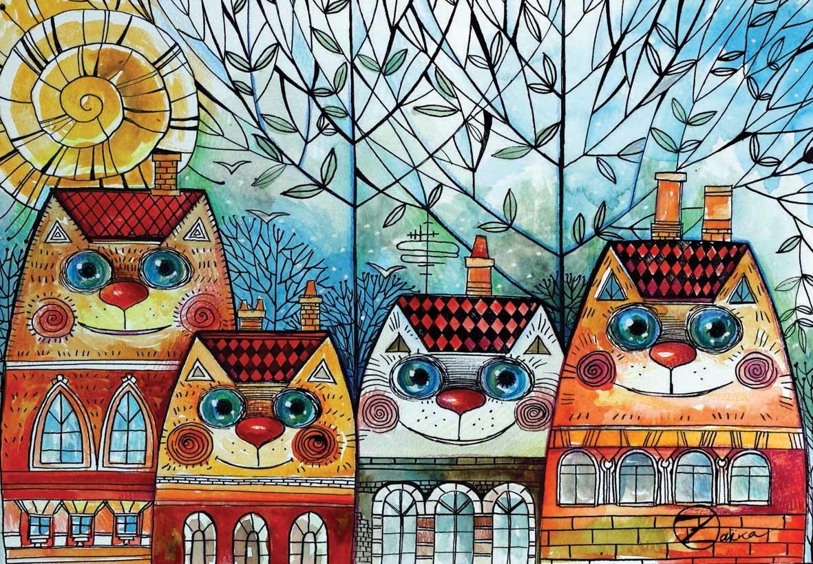 City Cat Cats Jigsaw Puzzle