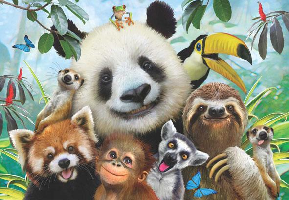 Zoo Selfie Animals Jigsaw Puzzle