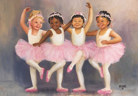 Little Ballerinas Dance Jigsaw Puzzle