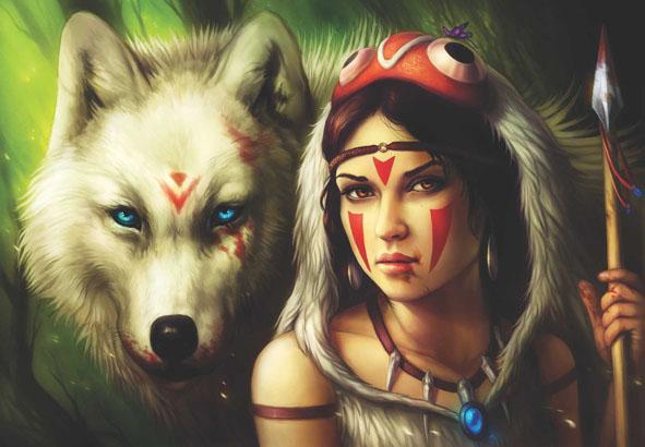 Warrior Princess Wolves Jigsaw Puzzle