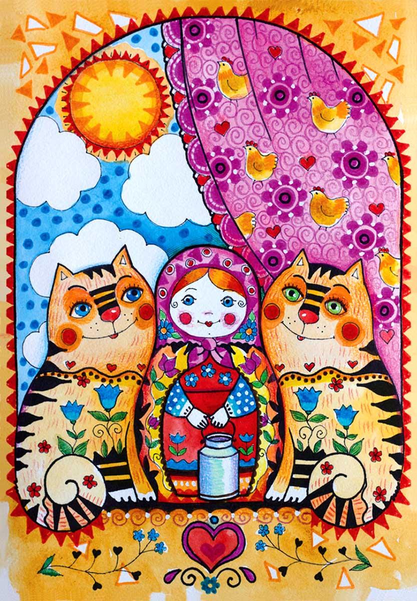 Matryoshka Cultural Art Jigsaw Puzzle