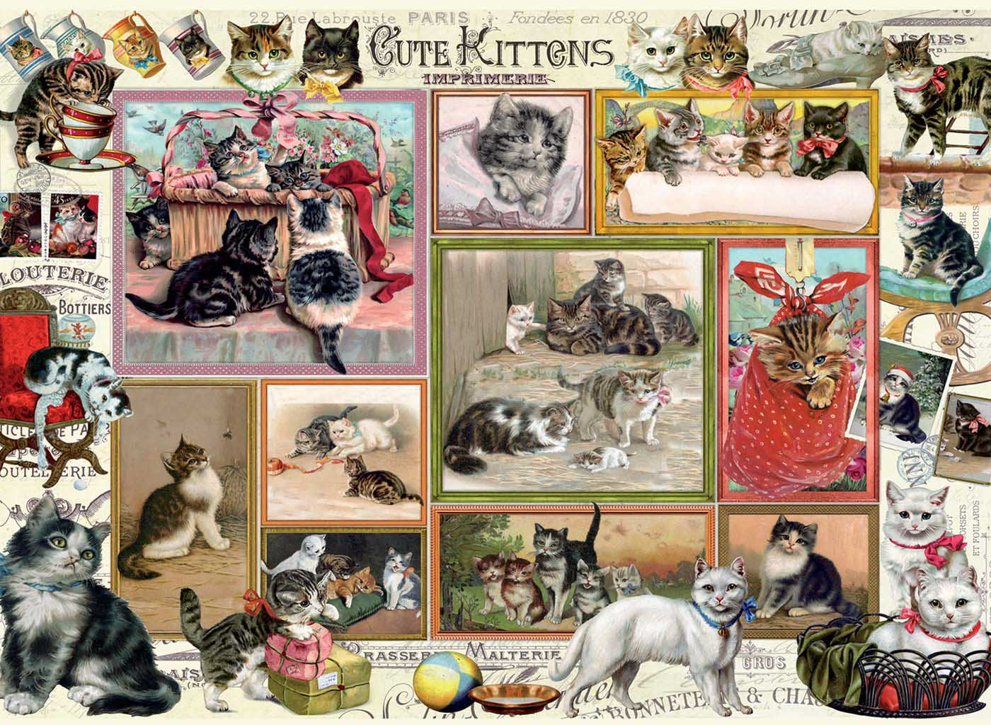 Cute Kittens & Comical Dogs Cats Jigsaw Puzzle
