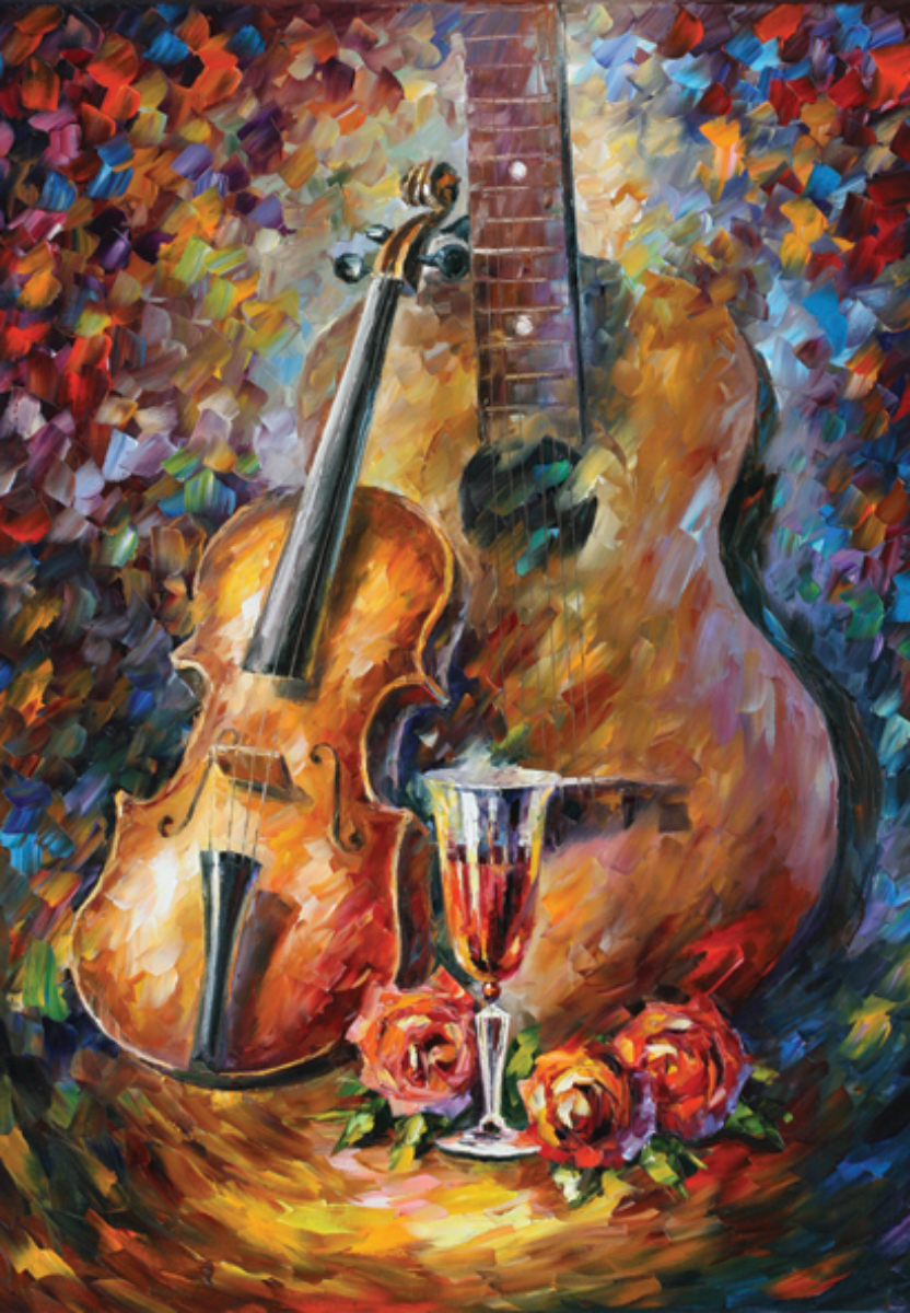 Guitar and Violin Fine Art Jigsaw Puzzle