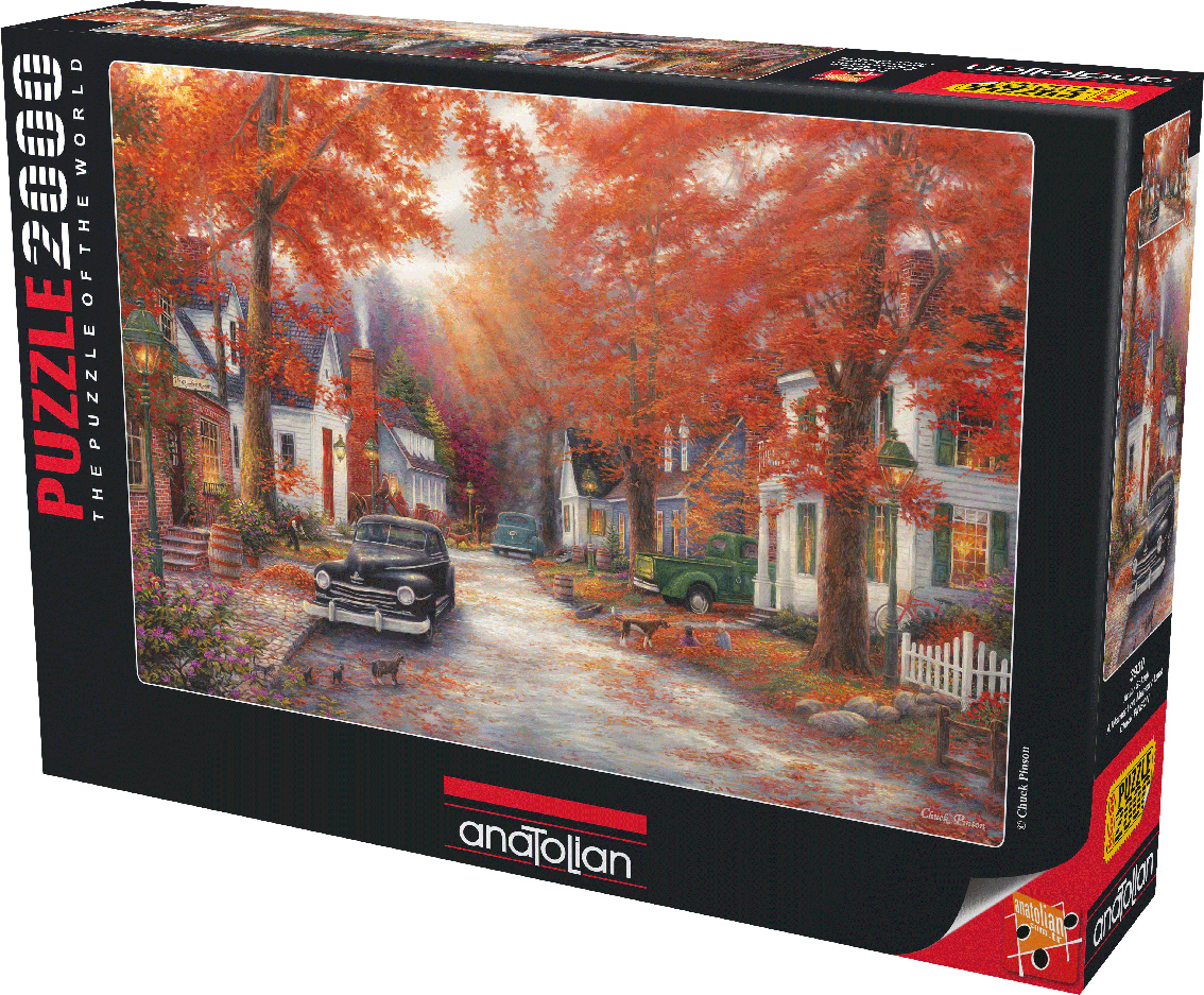 A Moment on Memory Lane Fall Jigsaw Puzzle