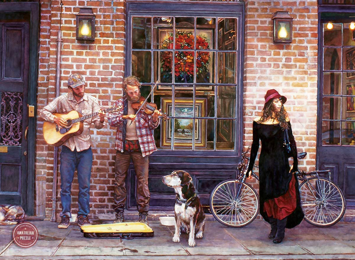The Sights and Sounds of New Orleans Street Scene Jigsaw Puzzle