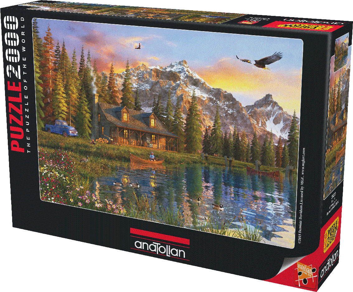 Old Log Cabin Mountains Jigsaw Puzzle