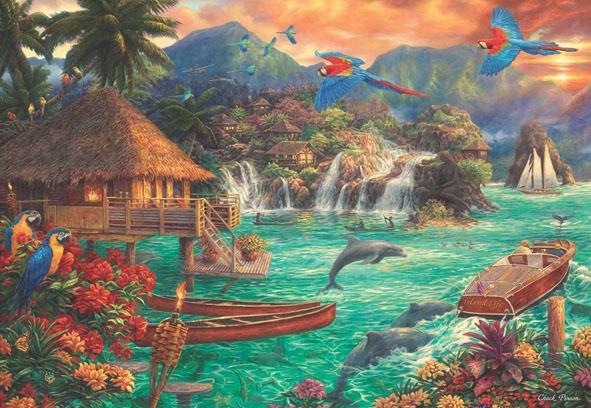 Island Life Beach Jigsaw Puzzle