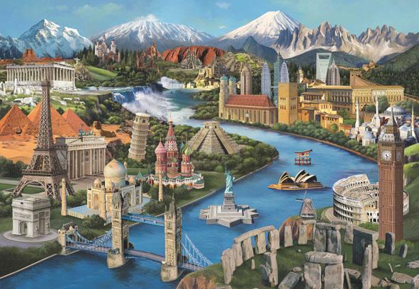 Popular Landmarks Landmarks / Monuments Jigsaw Puzzle