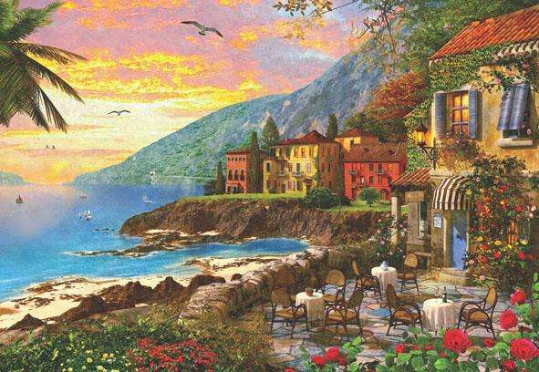 Island Sunset Seascape / Coastal Living Jigsaw Puzzle