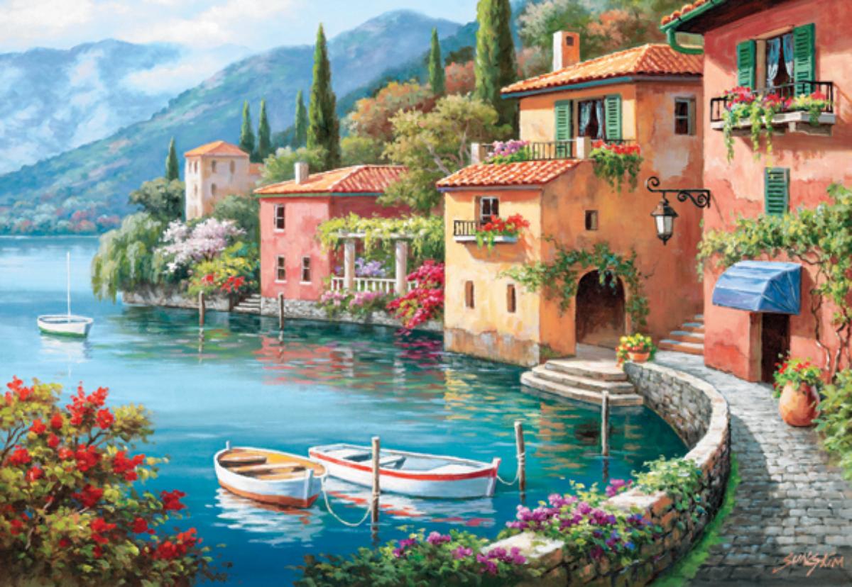 Villagio Dal Lago Italy Jigsaw Puzzle