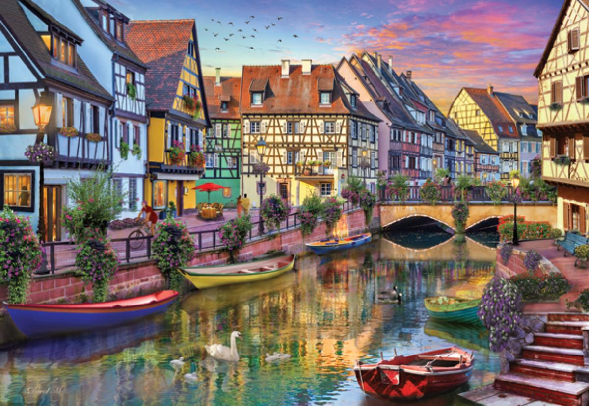 Colmar Canal France Jigsaw Puzzle