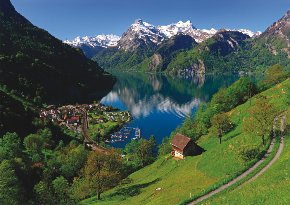 Lake Lucerne Switzerland Jigsaw Puzzle Puzzlewarehouse Com