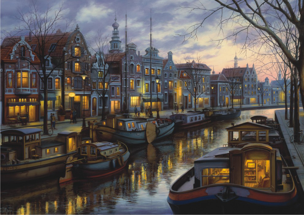 Canal Life Landscape Jigsaw Puzzle