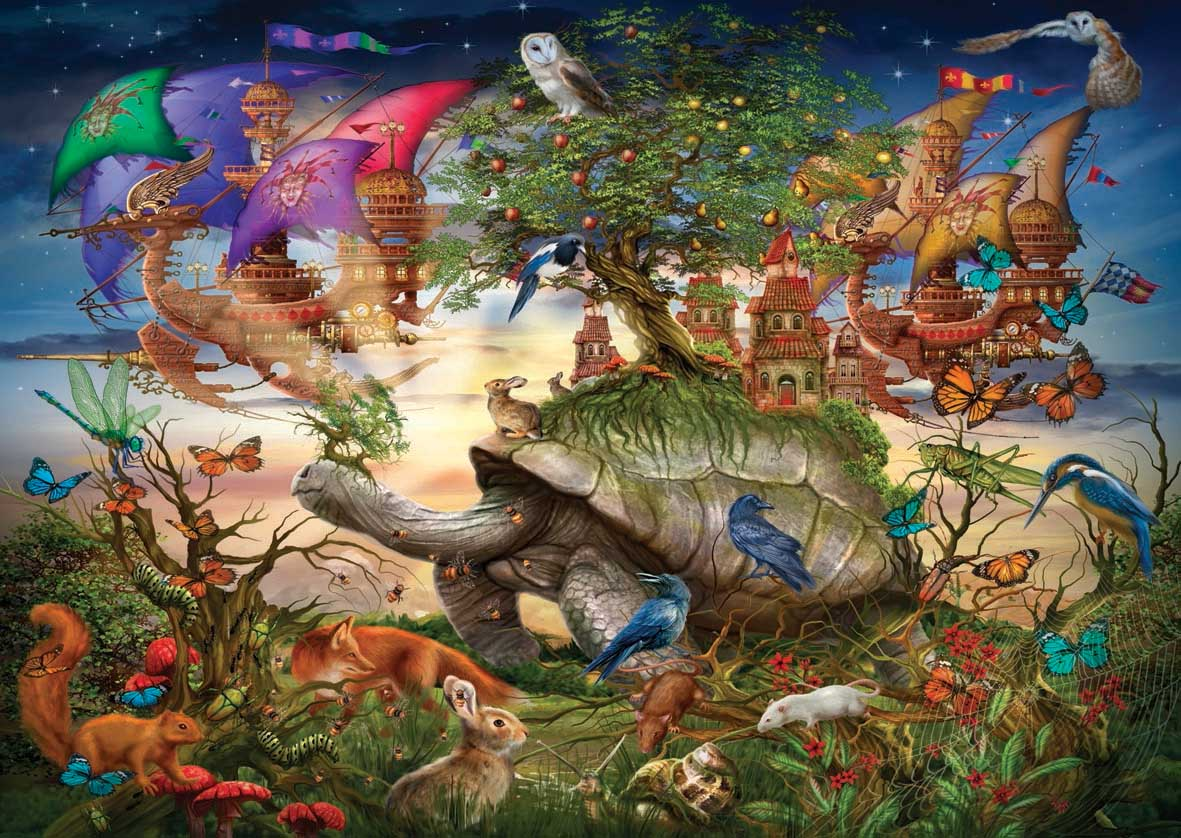 Evening Stroll Animals Jigsaw Puzzle