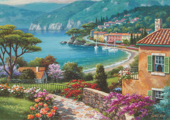 Lakeside Seascape / Coastal Living Jigsaw Puzzle