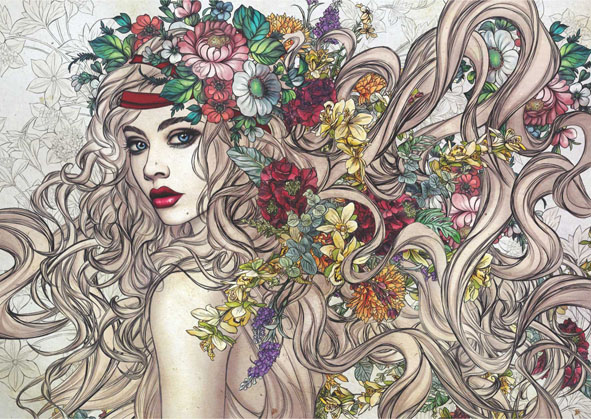 Flower Power People Jigsaw Puzzle