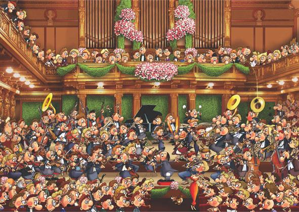 Concert Cartoons Jigsaw Puzzle