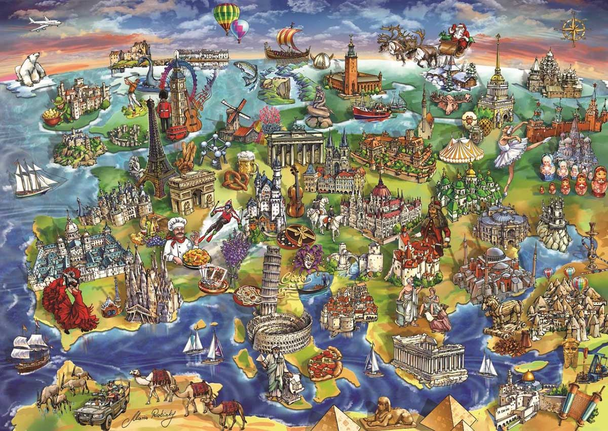 European World Maps / Geography Jigsaw Puzzle