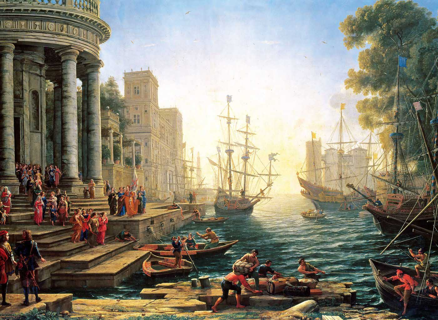 Seaport with the Embarkati Boats Jigsaw Puzzle