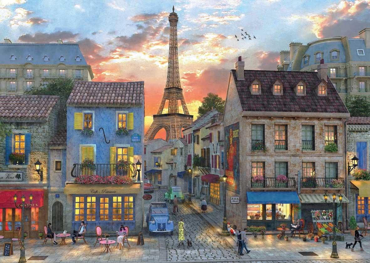 Streets of Paris Paris Jigsaw Puzzle