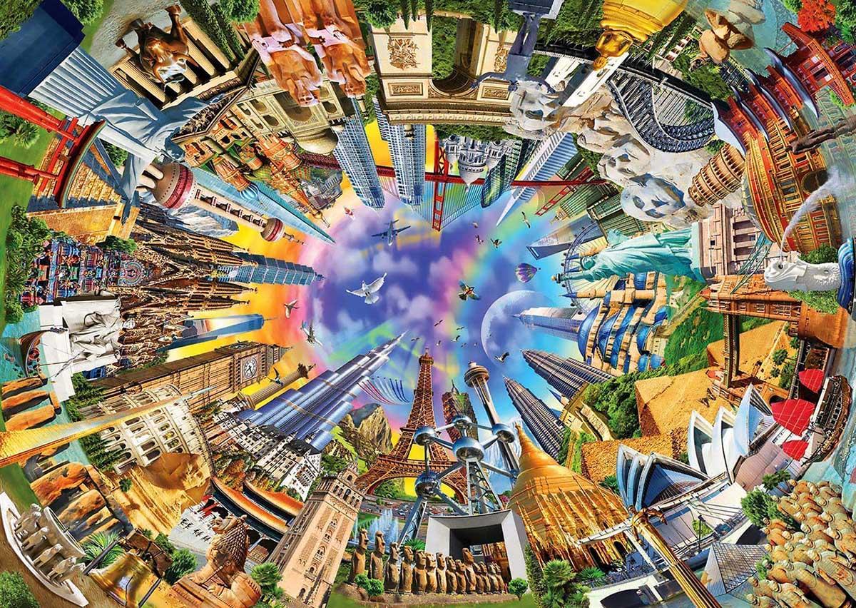 360 World Landmarks / Monuments Jigsaw Puzzle