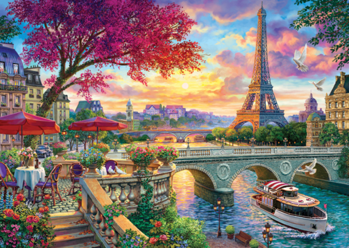 Blooming Paris France Jigsaw Puzzle