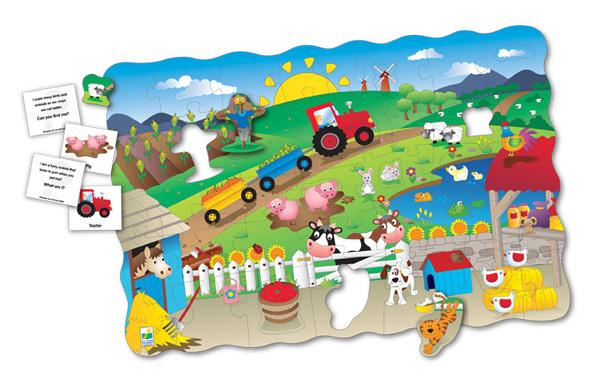 Puzzle Doubles Search & Learn Farm Farm Floor Puzzle
