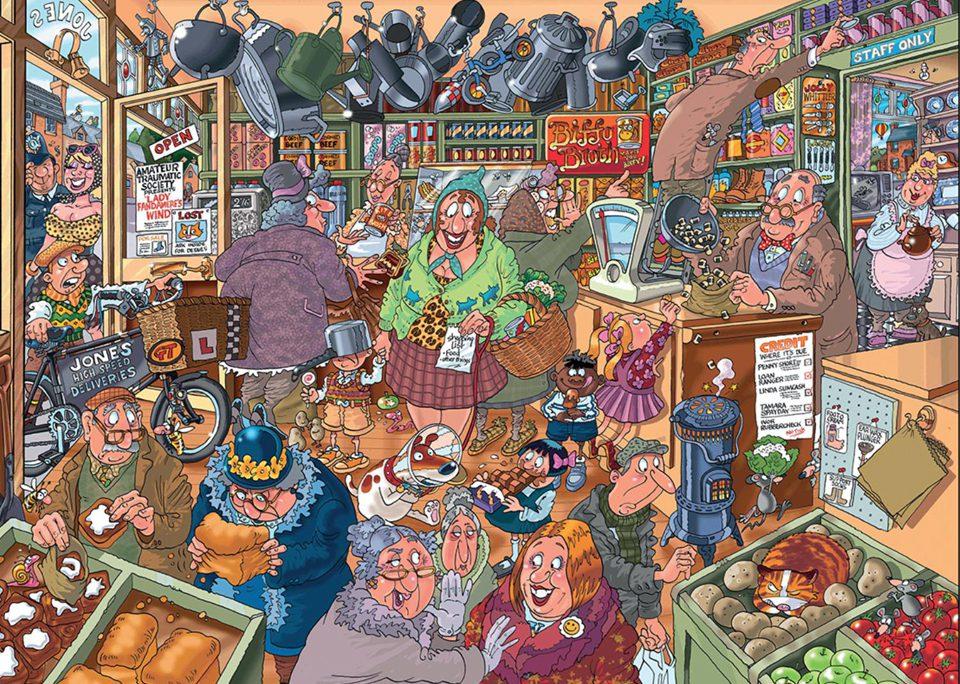 Wasgij Destiny 15:  Shopping Shake Up! People Jigsaw Puzzle