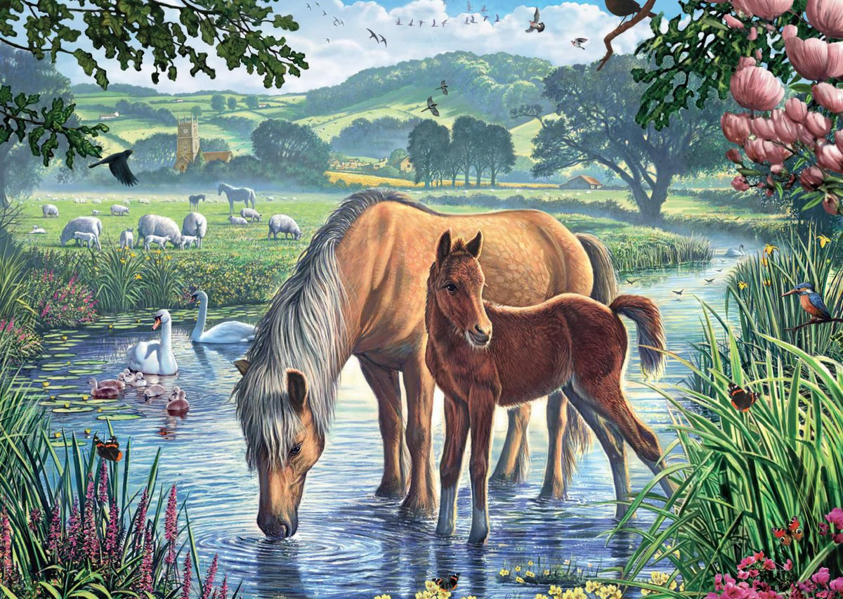 Pony And Foal Jigsaw Puzzle Puzzlewarehouse Com