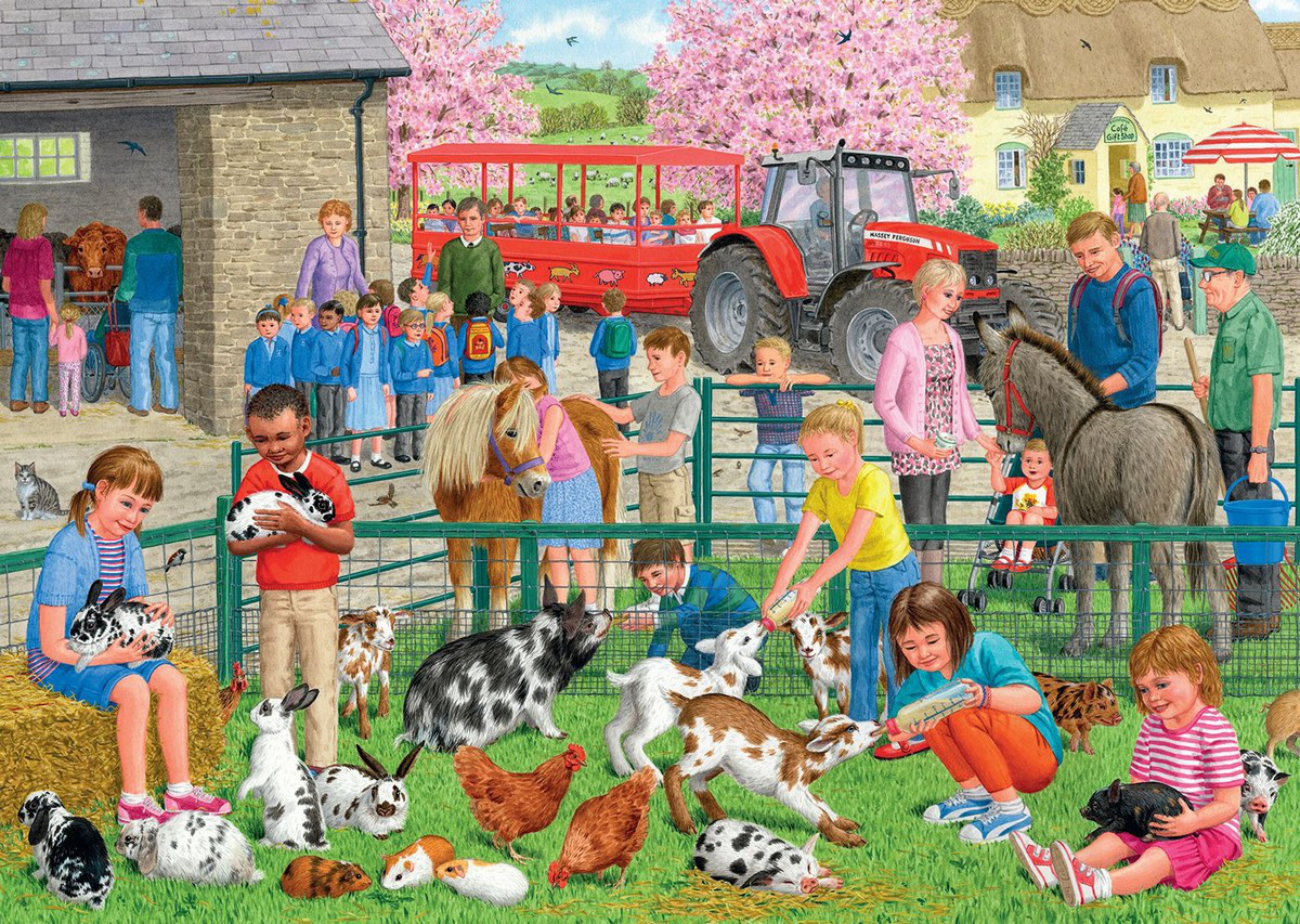 A Day At The Farm Jigsaw Puzzle Puzzlewarehouse Com