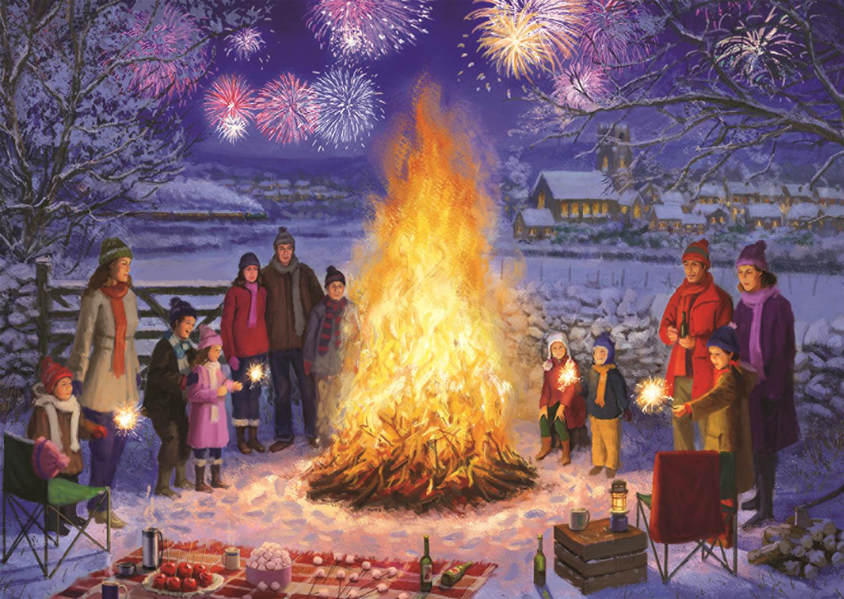 Bonfire Night Winter Jigsaw Puzzle