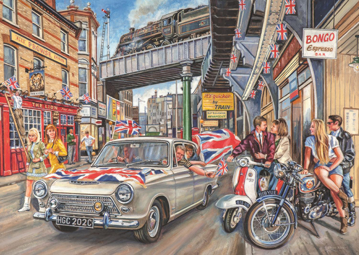 Spirit of the 60's Cars Jigsaw Puzzle