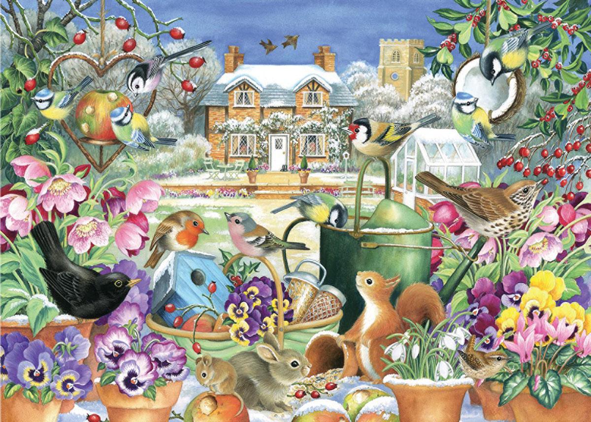 Winter Garden Birds Jigsaw Puzzle