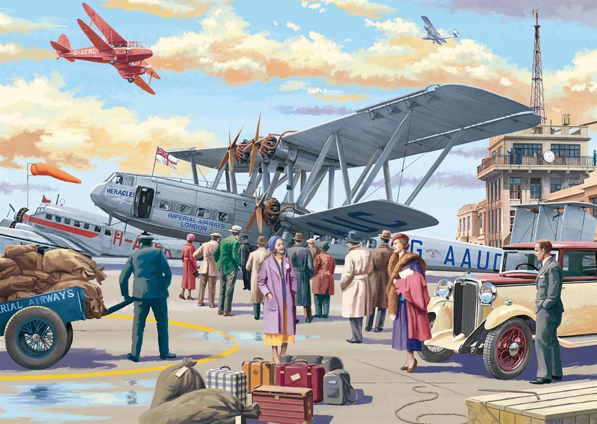 Croydon Airport Planes Jigsaw Puzzle