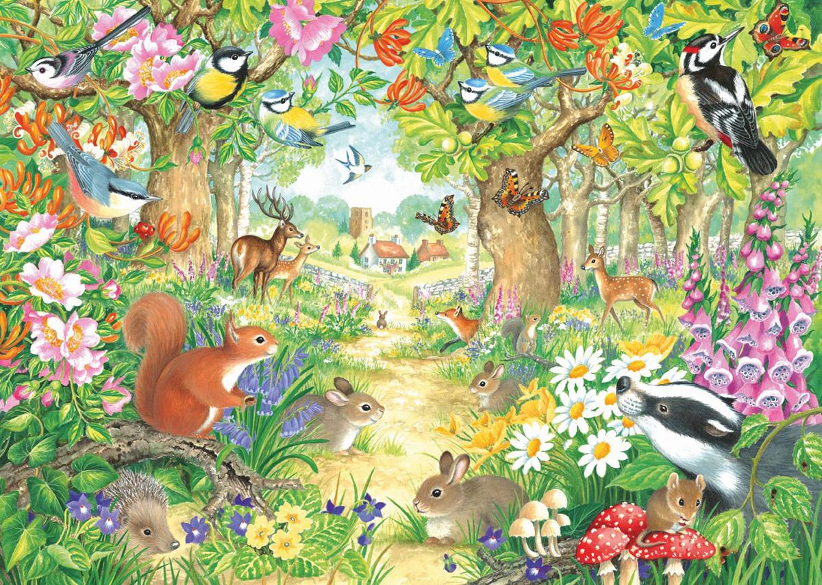 A Woodland Trail Wildlife Jigsaw Puzzle