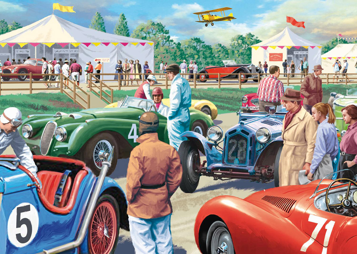 Legends Of The Track Cars Jigsaw Puzzle