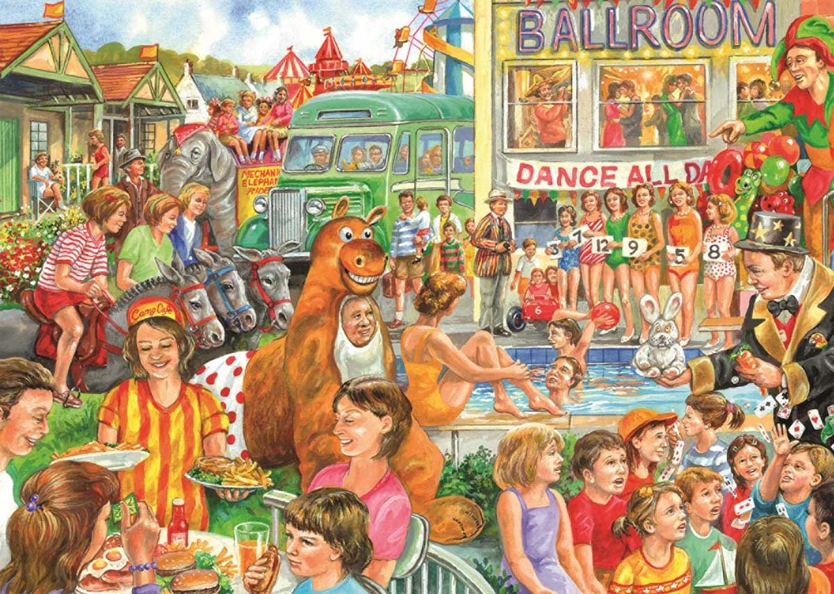 Holiday Camp People Jigsaw Puzzle
