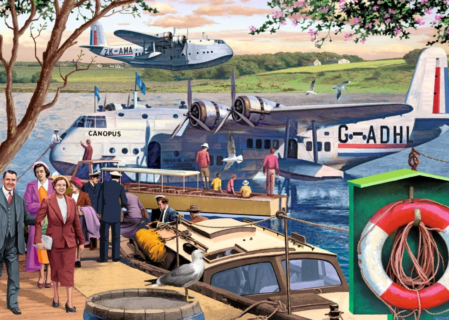 Empire Flying Boats Planes Jigsaw Puzzle